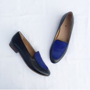 J. Crew Factory Calf Hair Stacked Heel Loafers